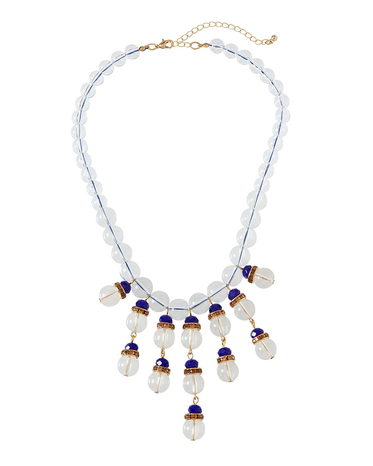 Fragments Lucite Twisted Statement Necklace Fzq2hKiiw