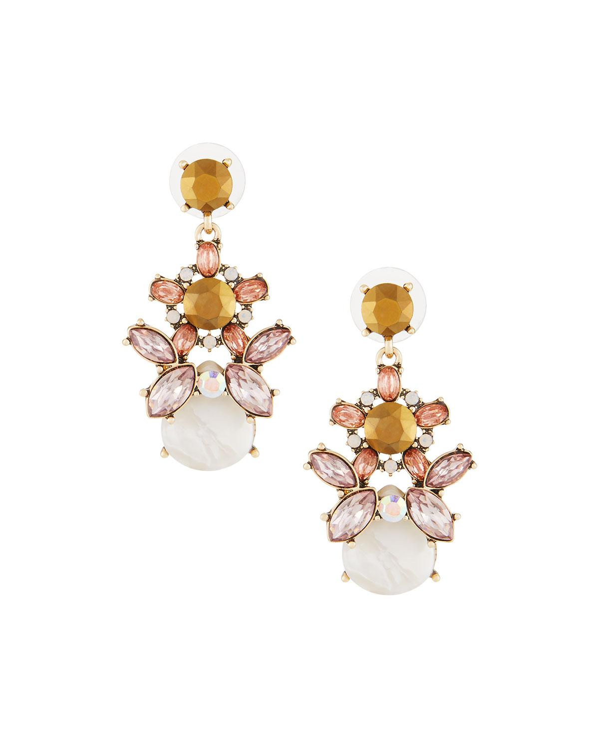Fragments Crystal Filigree Statement Earrings
