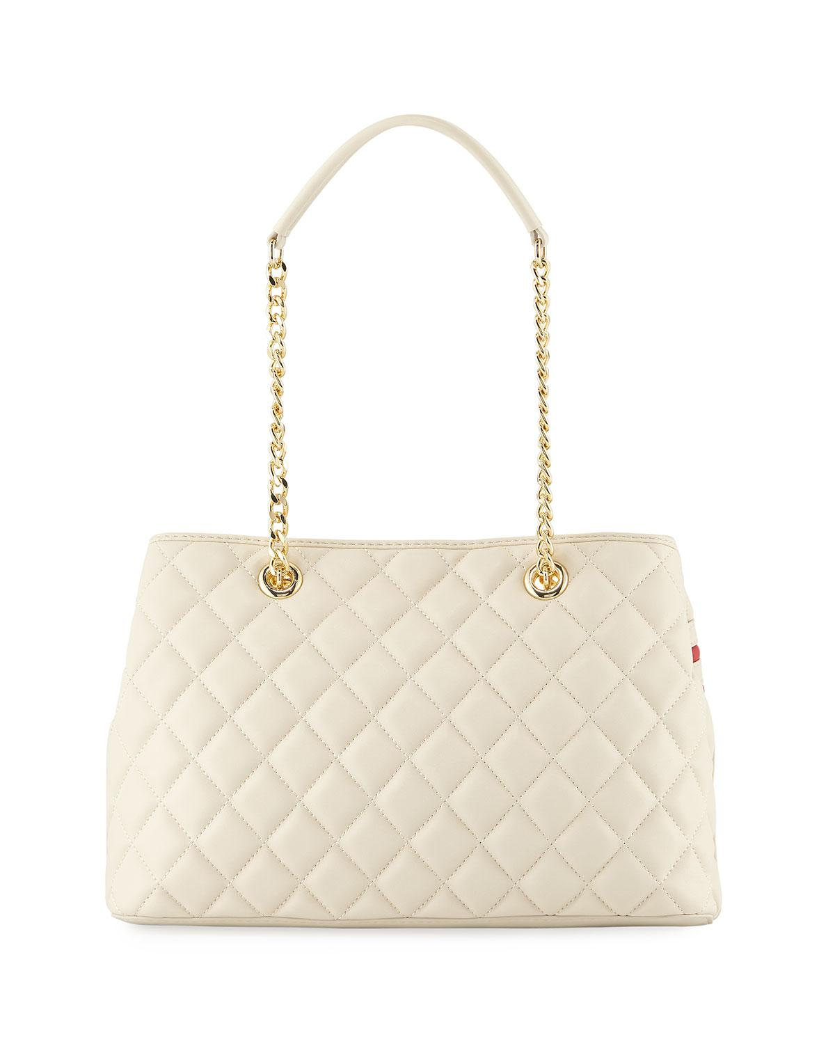 Love Moschino Quilted Napa Faux-Leather Shoulder Bag J3HgvNaU