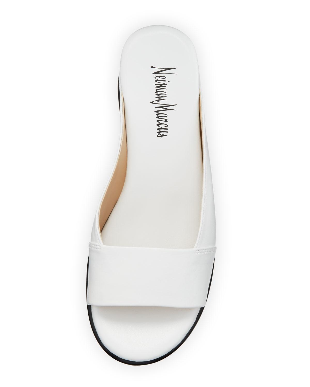 Lyst - Neiman Marcus Pammelah Platform Slide Sandal in White