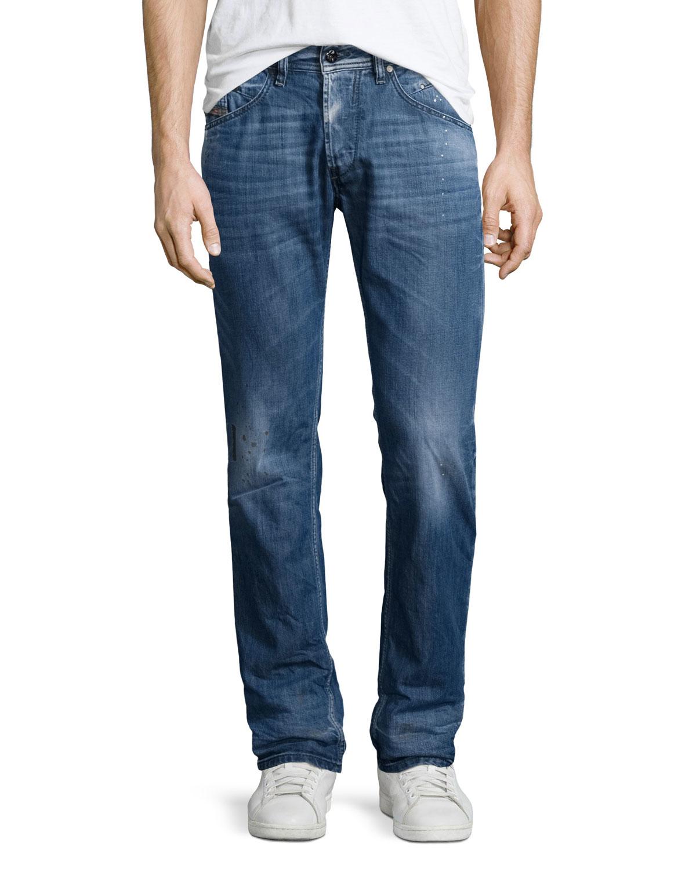diesel belther faded tapered jeans in blue for men denim lyst. Black Bedroom Furniture Sets. Home Design Ideas