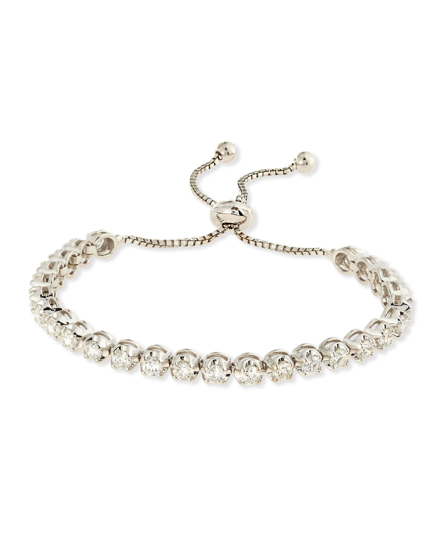 Neiman Marcus 14k White Gold Adjustable Diamond Bracelet