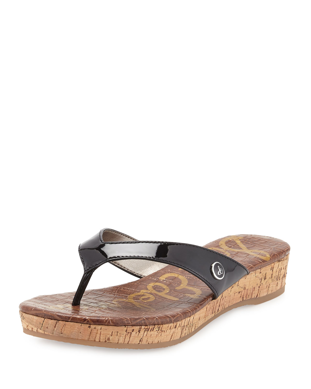 Lyst Sam Edelman Tanya Platform Thong Sandal In Black