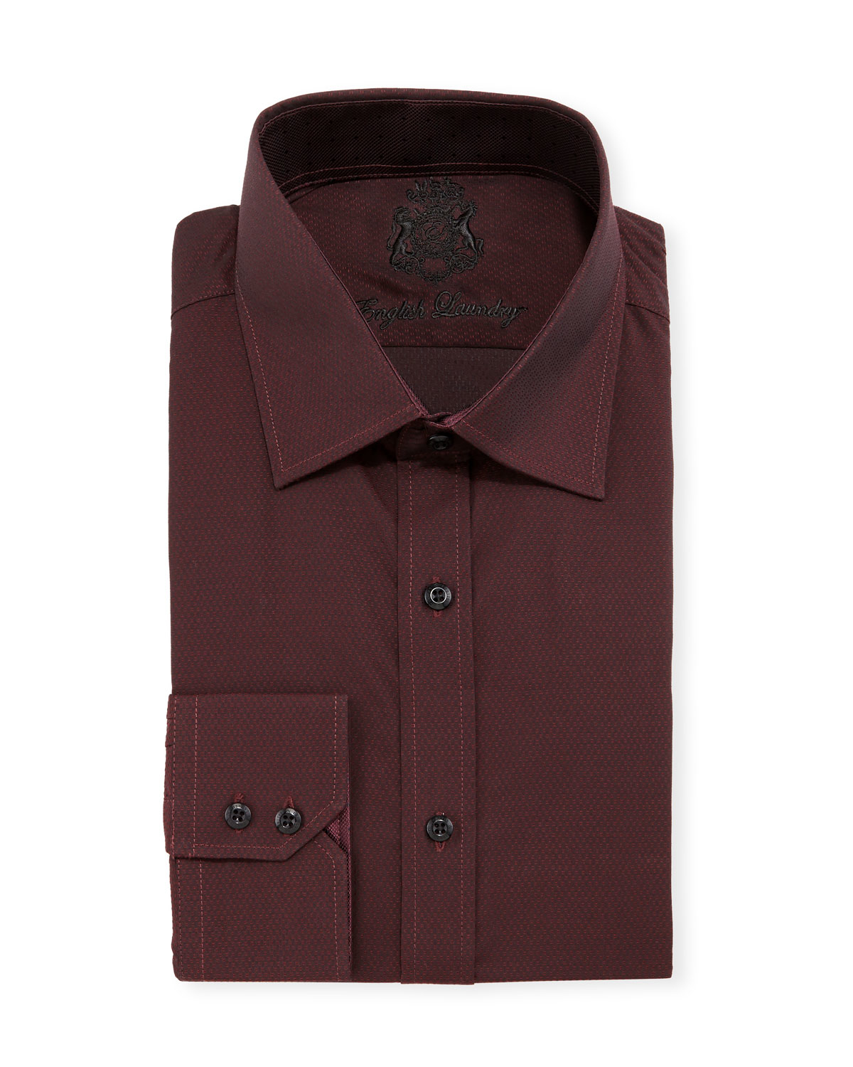 English laundry Textured Long-sleeve Dress Shirt in Red ...