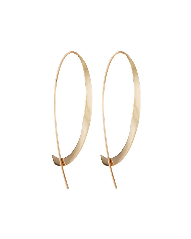 Lana Girl by Lana Jewelry Girls Mini Upside Down Hoop Earrings F8YJnZY