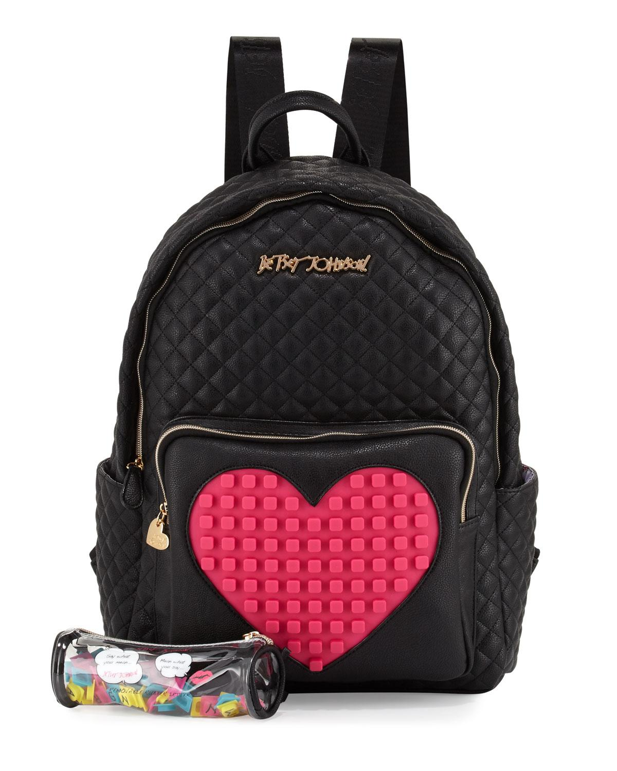 Lyst Betsey Johnson Buy A Vowel Quilted Faux Leather