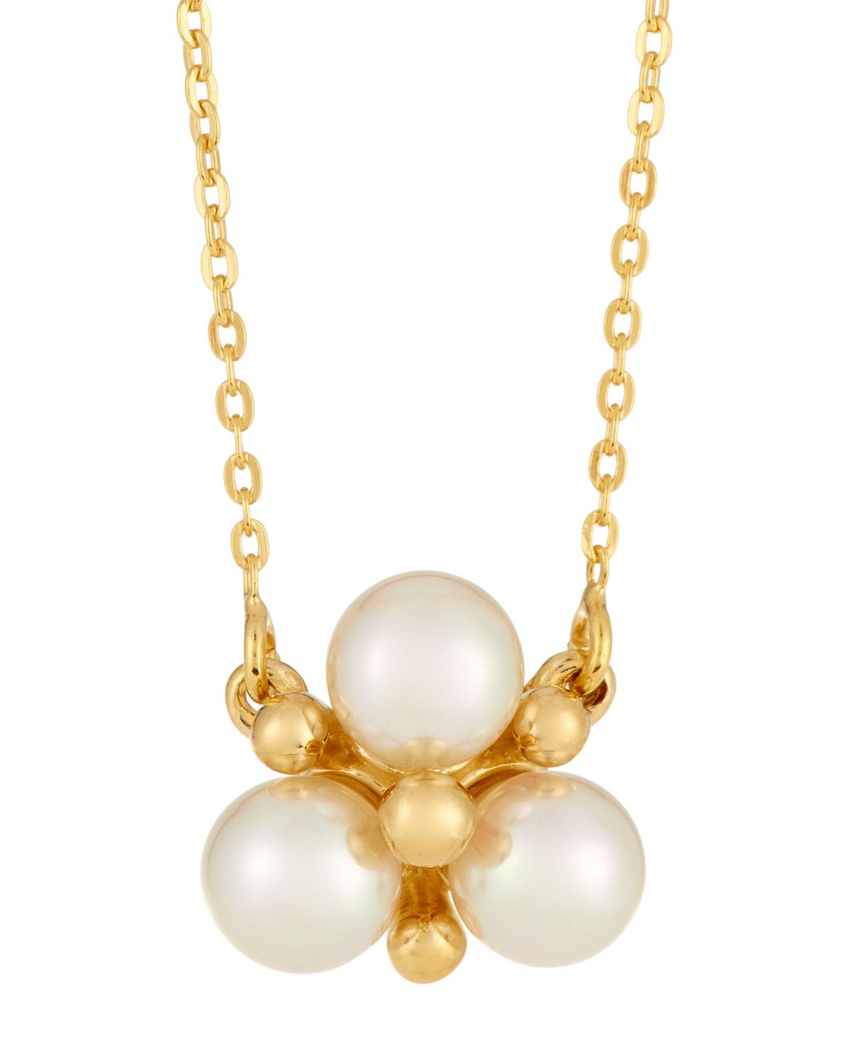 Majorica You & I Manmade Pearl Cluster Pendant Necklace Qs4ag