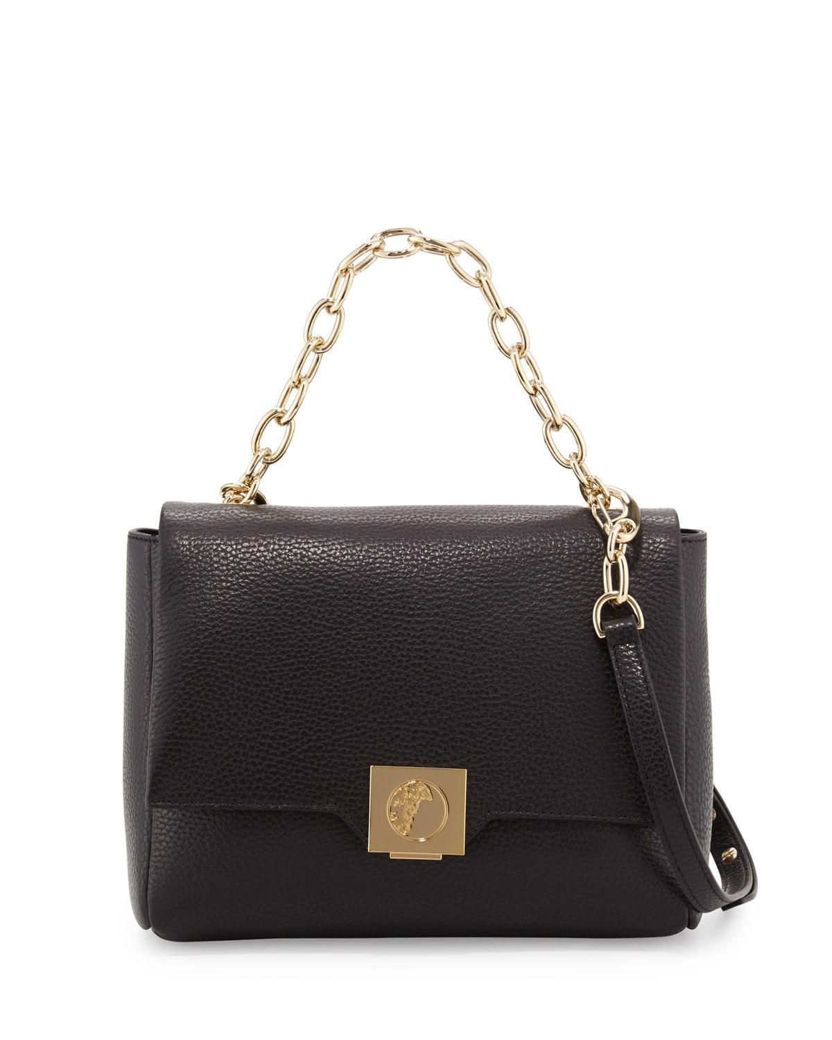 0a3f3af76e Lyst - Versace Leather Fold-over Crossbody Bag in Black