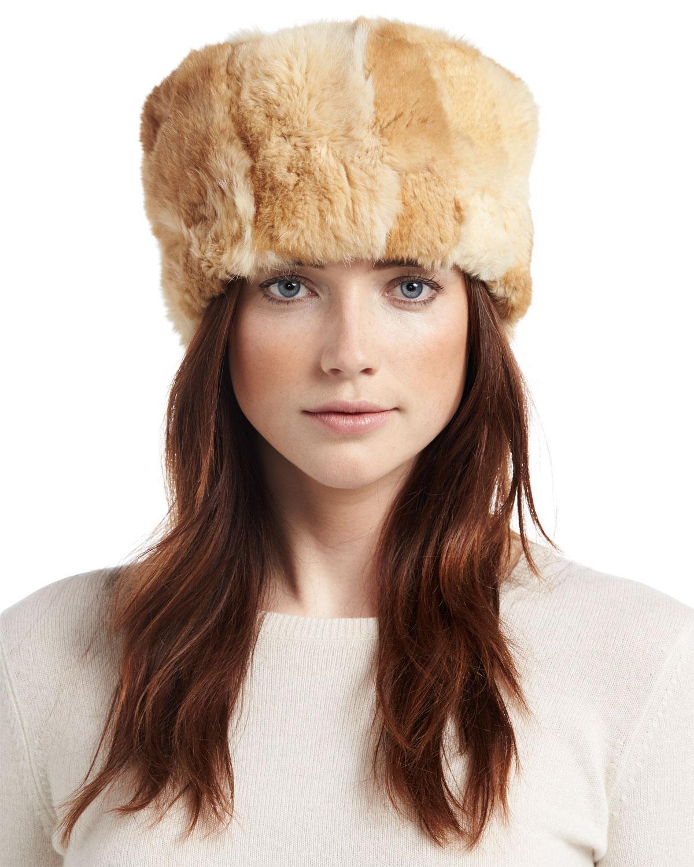 5753c8060e5c1 Lyst - Adrienne Landau Knit Rabbit Fur Hat in Gray