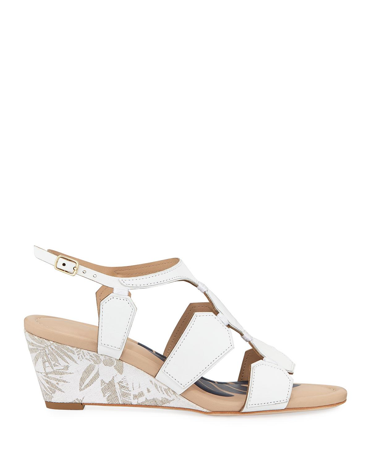74e559661 Lyst - Tommy Bahama Ivy Beach Geometric Wedge Sandals in White - Save 54%