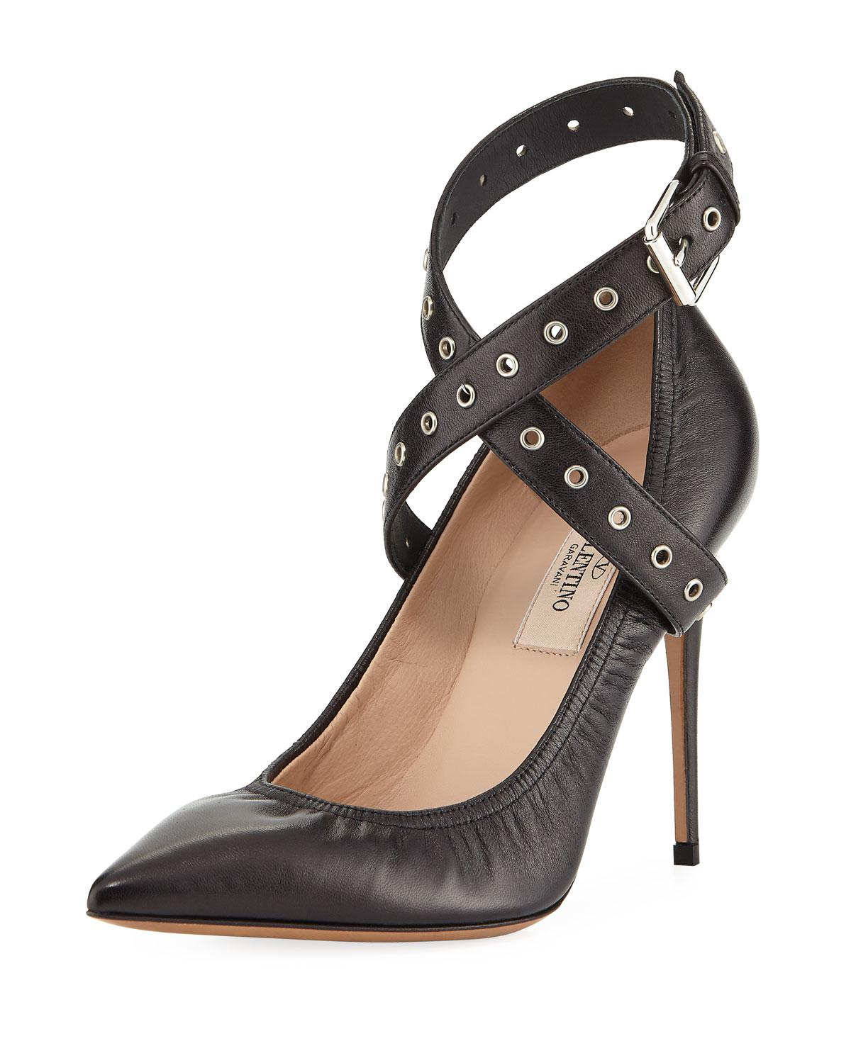 cheap newest Valentino Grommet Slingback Pumps original best store to get sale online low price cheap price amazon for sale miwNu8TS6