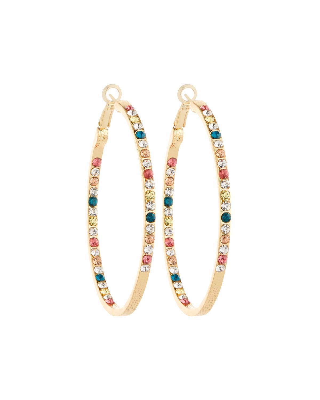 fragments large multicolored hoop earrings in