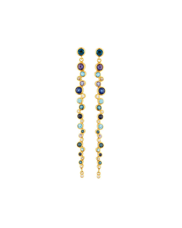 Gurhan Pointelle Open Green Stone Drop Earrings b22N2vlvr