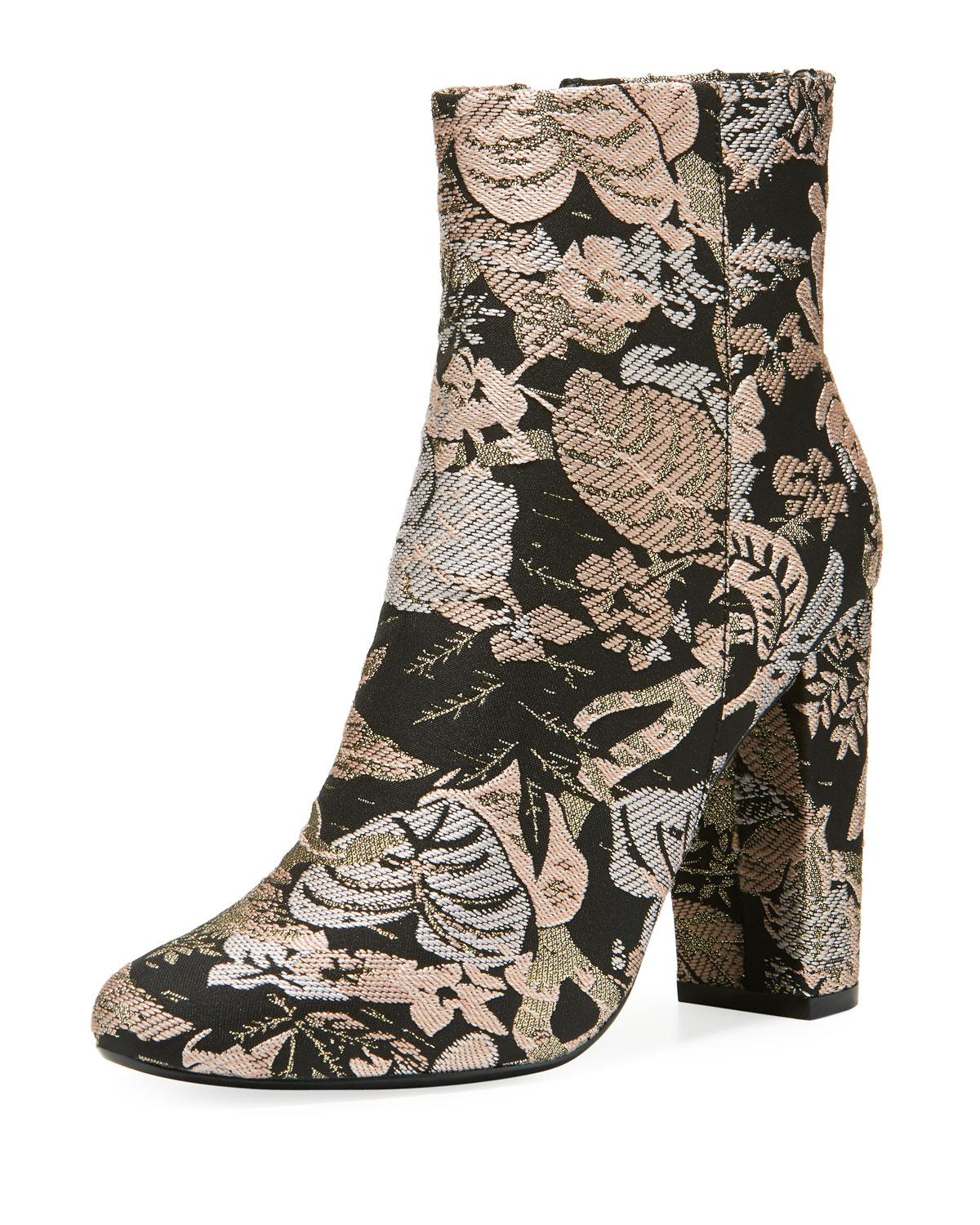 658143a72fd7 Lyst - Neiman Marcus Bucasia Floral Brocade Booties in Black - Save 44%