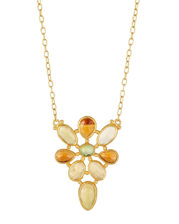 Gurhan 24k Pink Tourmaline & Diamond Pendant Necklace nCmjdwR