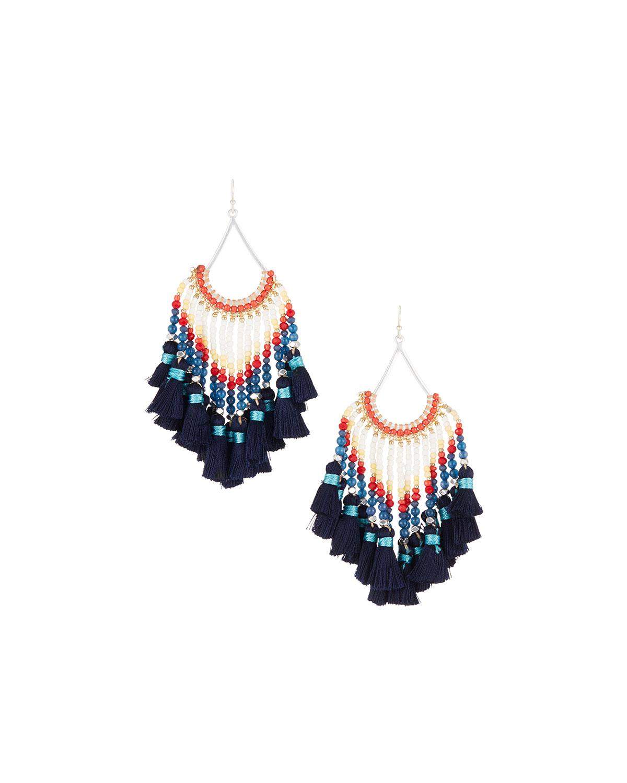 Nakamol Multi-Tassel Dangle Earrings mHKEa