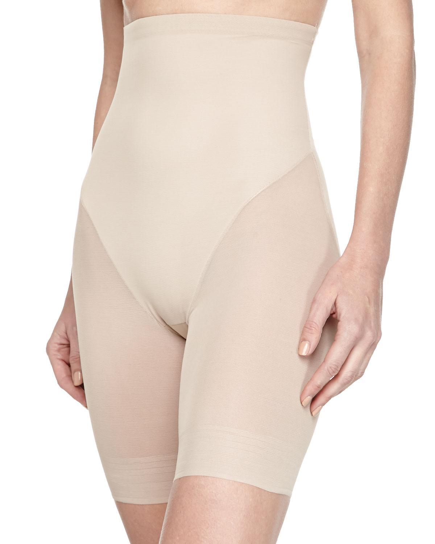 5f6a4176ff Lyst - Tc Fine Intimates High-waist Mid-thigh Shaper in Black
