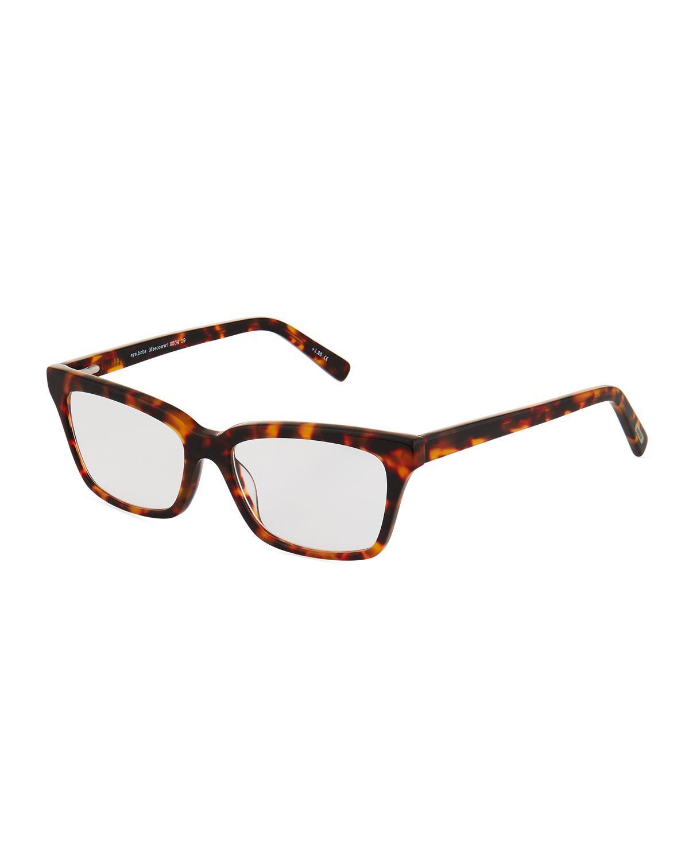 181cc11524d Lyst - Eyebobs Meeooww Rectangle Acetate Havana Optical Glasses in Brown
