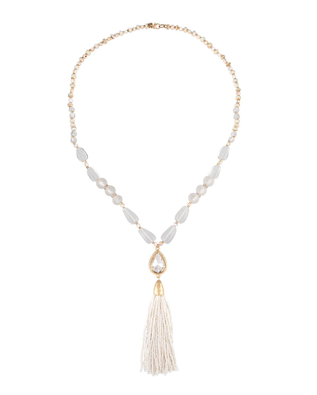 Lydell Nyc Tiered Tassel Y-Drop Necklace 5GWc4tFl1W