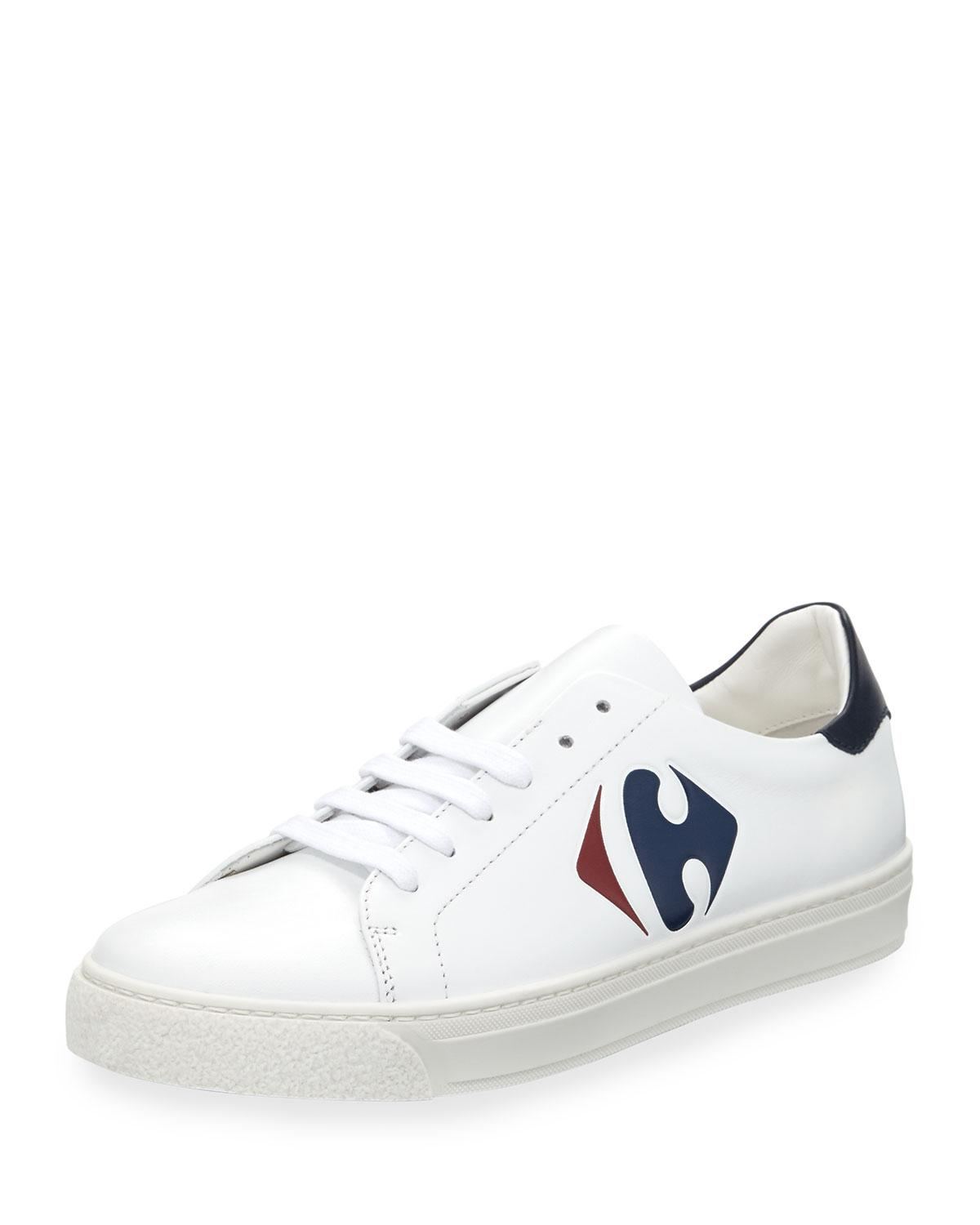Tennis Hindmarch Anya Carrefour Leather White Shoe VMpqSUz