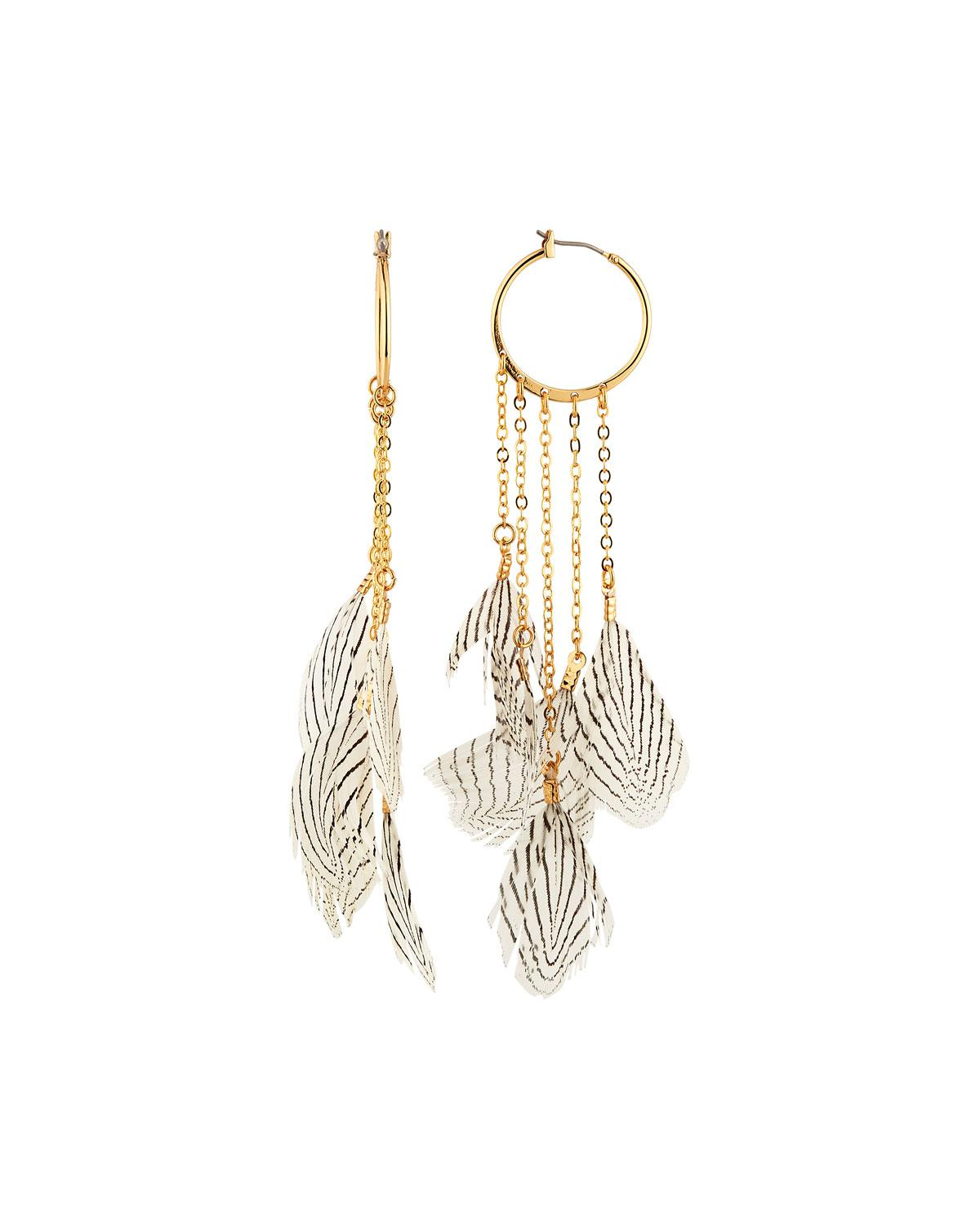 Lydell Nyc Beaded Chain Tassel Earrings, Pink