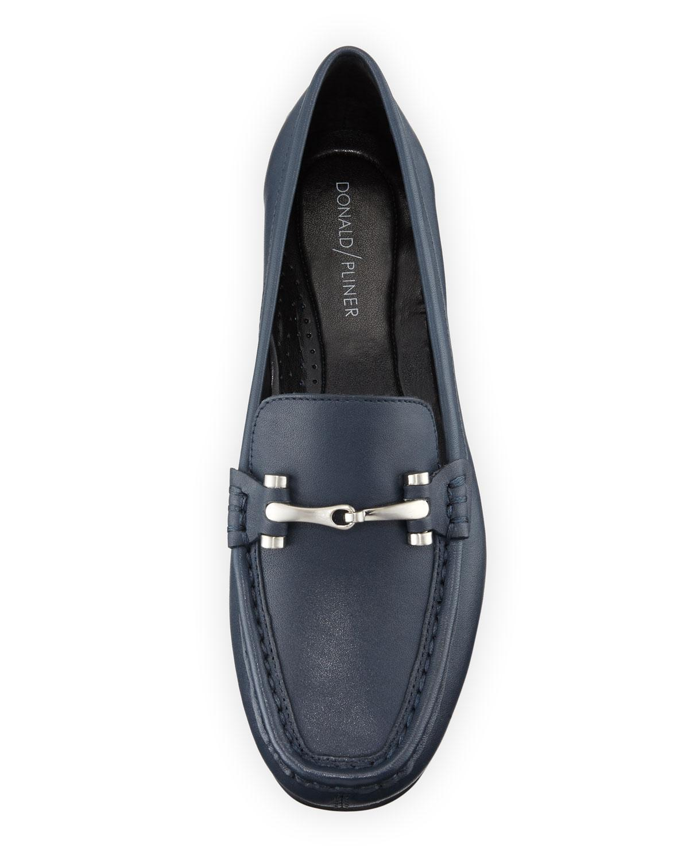 52588e7f0f9 Donald J Pliner - Black Filo Burnished Leather Moc Loafers - Lyst. View  fullscreen