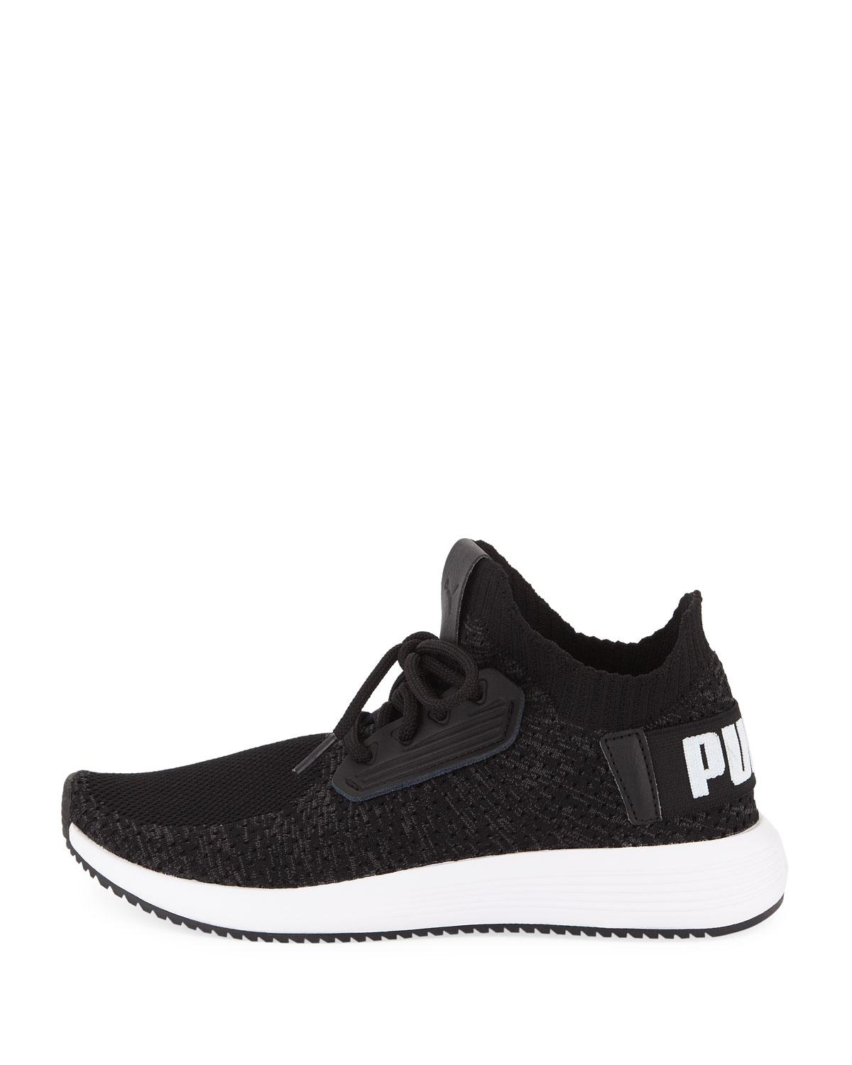 7b9c1f8efe3 Lyst - Puma Uprise Knit Lace-up Sneakers in Black for Men