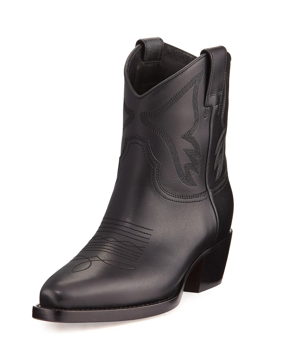 Valentino Leather Cowboy Boots sneakernews for sale agh4F