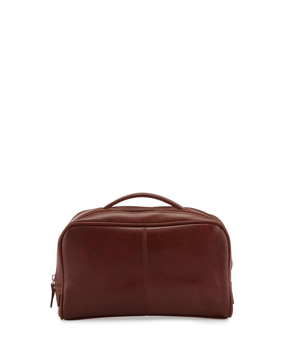 Lyst - Neiman Marcus Leather Travel Bag Brown in Brown - Save 30% 5afd98365c647