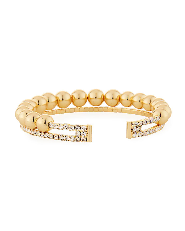 Fragments Ball & Crystal Coil Bracelet pNnEbnw