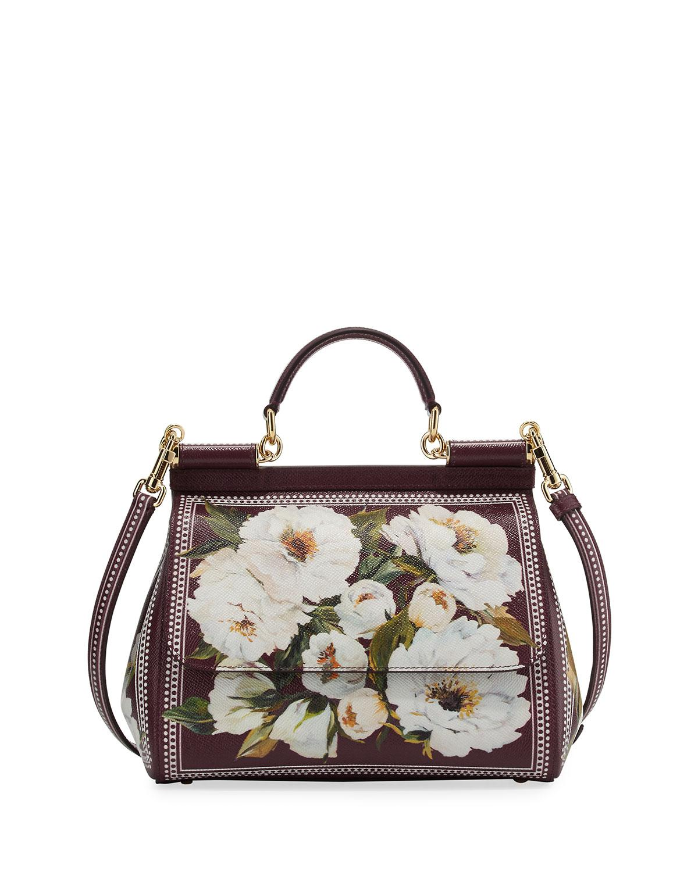 e9787fae151f Dolce   Gabbana. Women s Sicily Medium Floral-print Bag