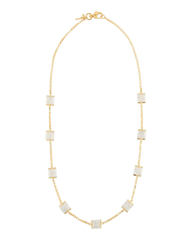Lele Sadoughi Dandelion Crystal Fireball Long Pendant Necklace lURZpuClb