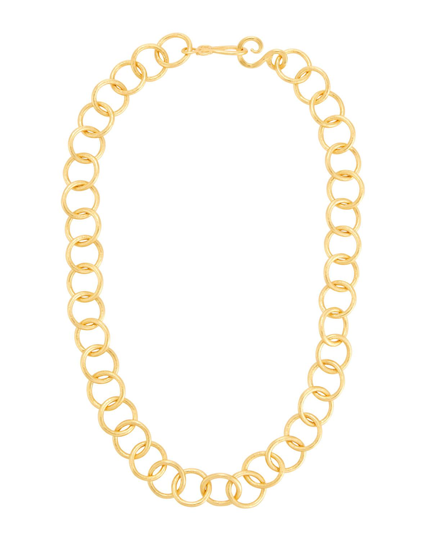 Stephanie Kantis Circle-Link 24k Gold-Plated Necklace maTJQASN9