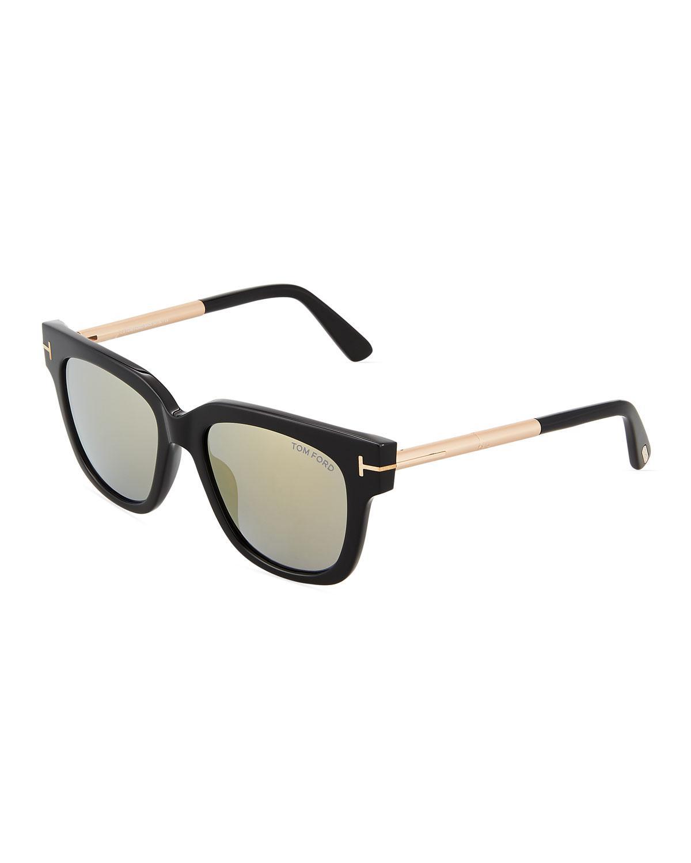 88b74ecc487 Lyst - Tom Ford Plastic metal Square Sunglasses in Black