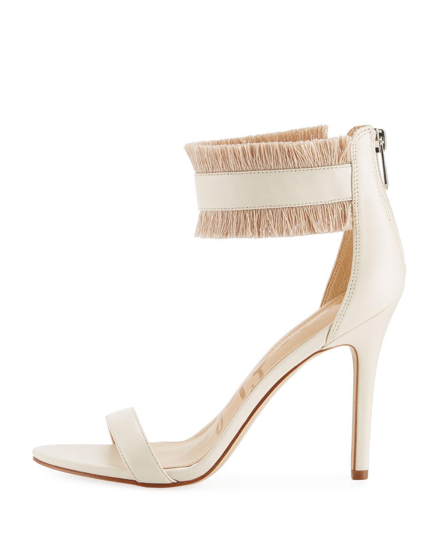 950ecb806 Lyst - Sam Edelman Anabeth Napa Fringe Sandal in White