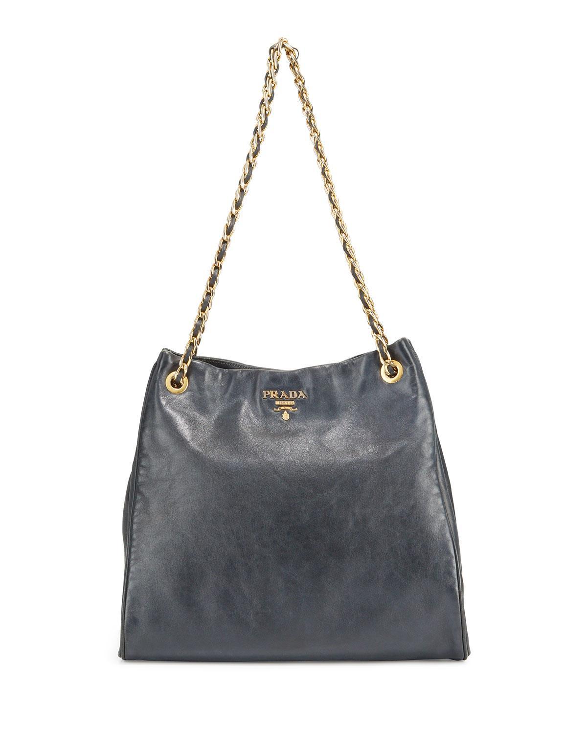 6b70a1e29f6 Women's Black Preowned Braided Leather And Chain Tote Bag