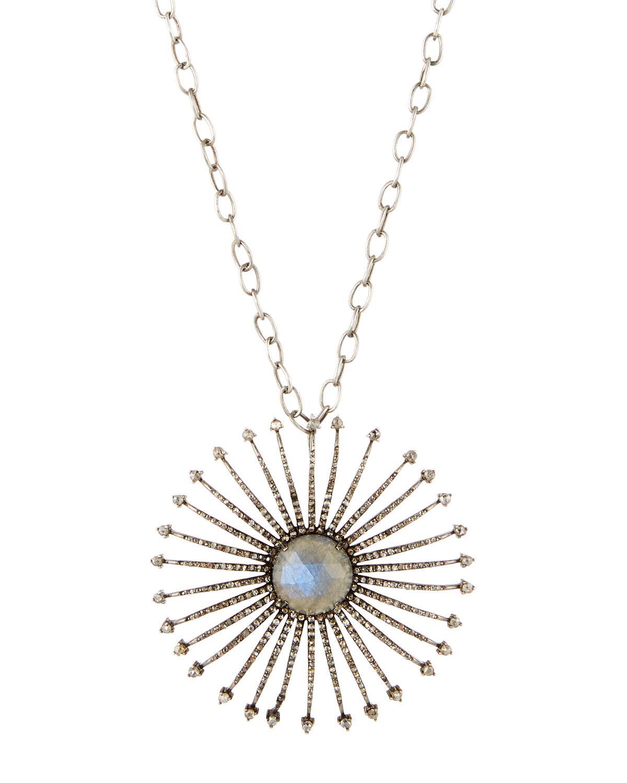 Bavna Glass Ruby & Diamond Strawberry Pendant Necklace qjNK7NwYS