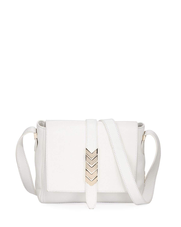 Versace. Women s Pebbled Leather Shoulder Bag White 8807456d0086f
