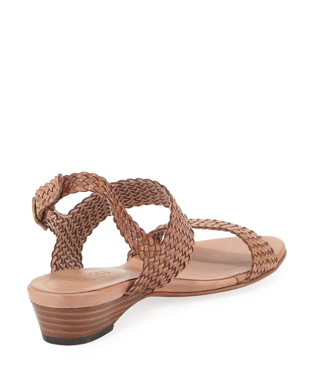 Sesto Meucci Brown Gemmy Woven Leather Sandal