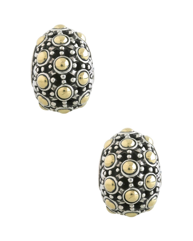 John Hardy Women S Metallic Jaisalmer 18k Gold Sterling Silver Buddha Belly Earrings