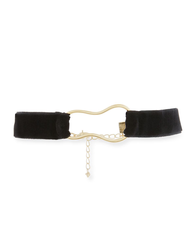 Dannijo Bari Velvet Choker Necklace ywhQAQ
