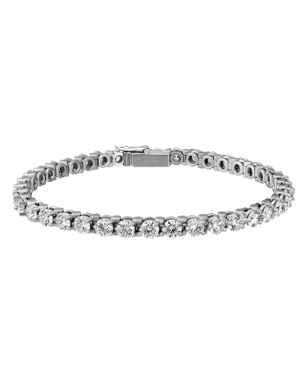 Lines Platinum Diamond Tennis Bracelet