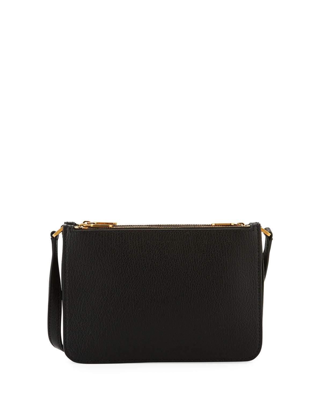 2767e6688f96 Lyst - Burberry Penhurst Trio Leather Crossbody Bag in Black