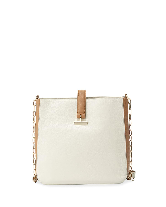b0c0b94956f3 Halston. Women s Two-tone Leather Bucket Bag