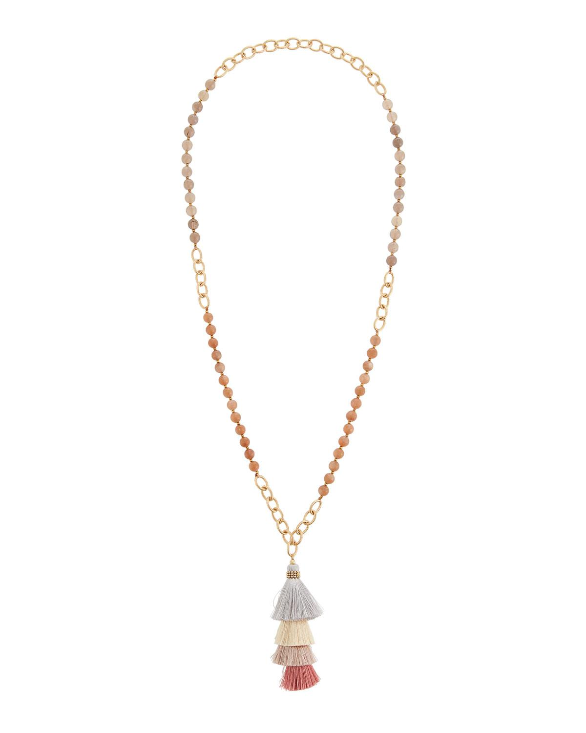 Panacea Stacked Tassel Pendant Necklace 8VcYn7DtN1