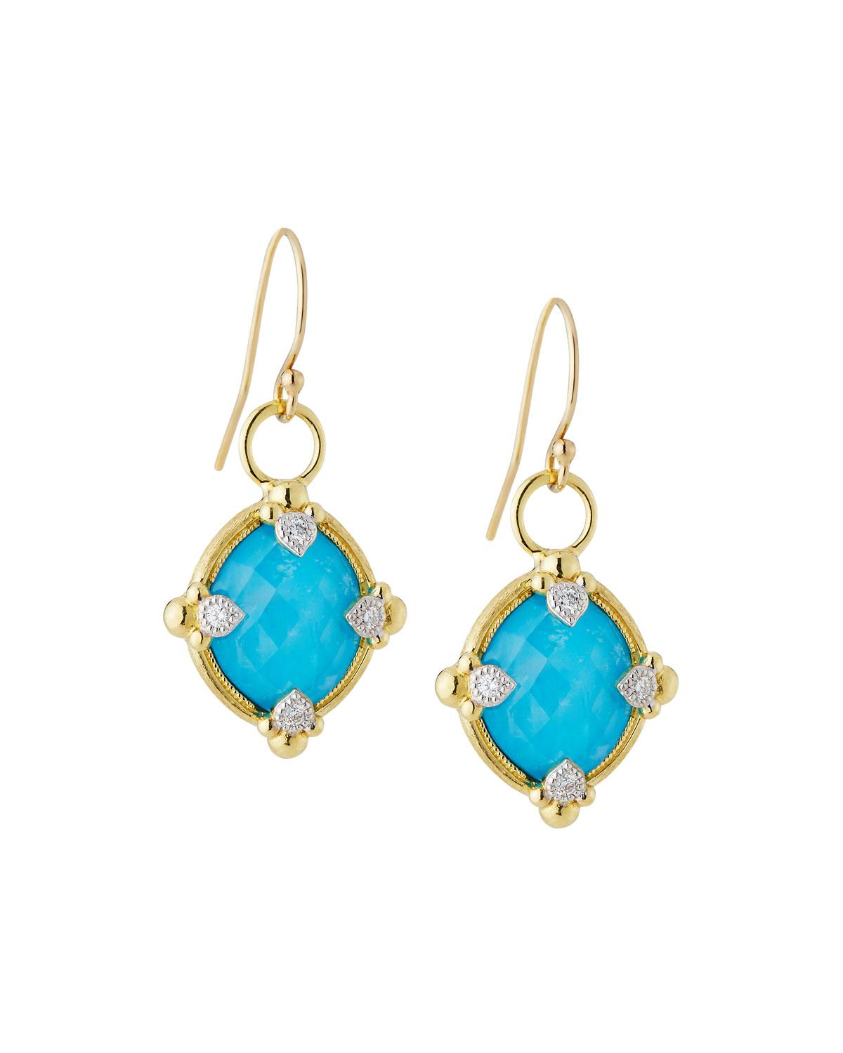 Jude Frances Lisse 18K Dangle/Drop Earrings with Turquoise WNvMYIyx4