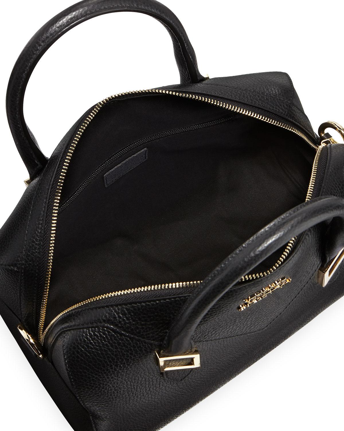 e76e666160a6 Lyst - Versace Pebbled Leather Medium Top-handle Bag in Black for Men