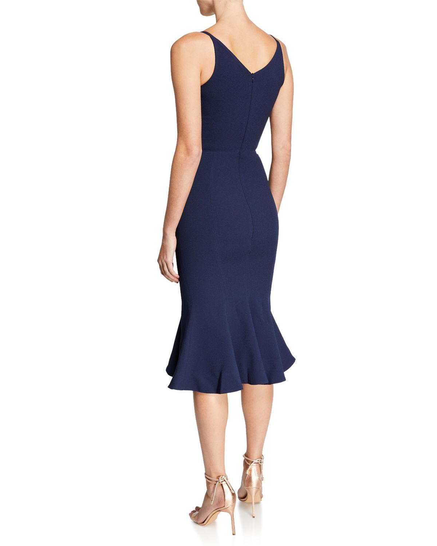 757b4e876b78 Lyst - Dress the Population Isabelle V-neck Trumpet Cocktail Dress ...