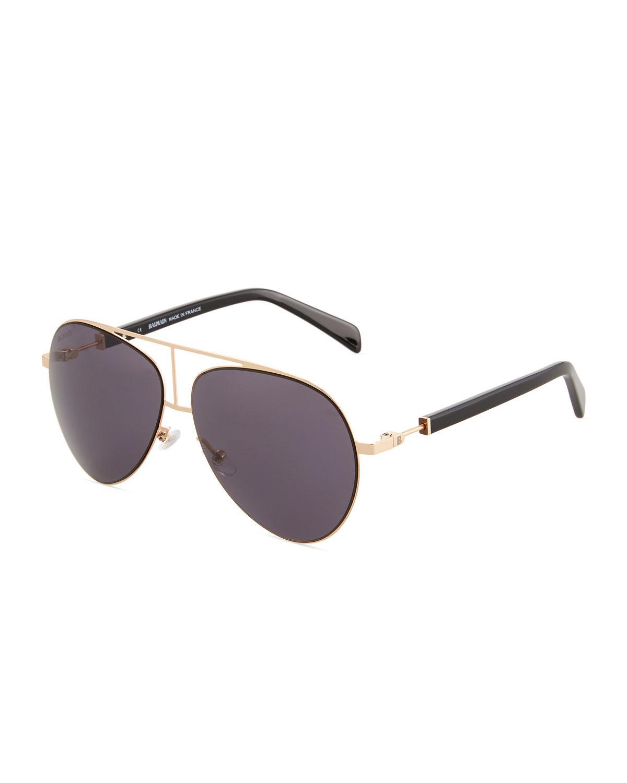 ff2e6bcec Lyst - Balmain Metal/acetate Aviator Sunglasses in Metallic for Men ...