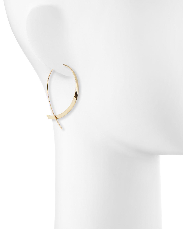 c655503ef73ca Lana Jewelry Metallic 14k Curved Upside Down Hoop Earrings